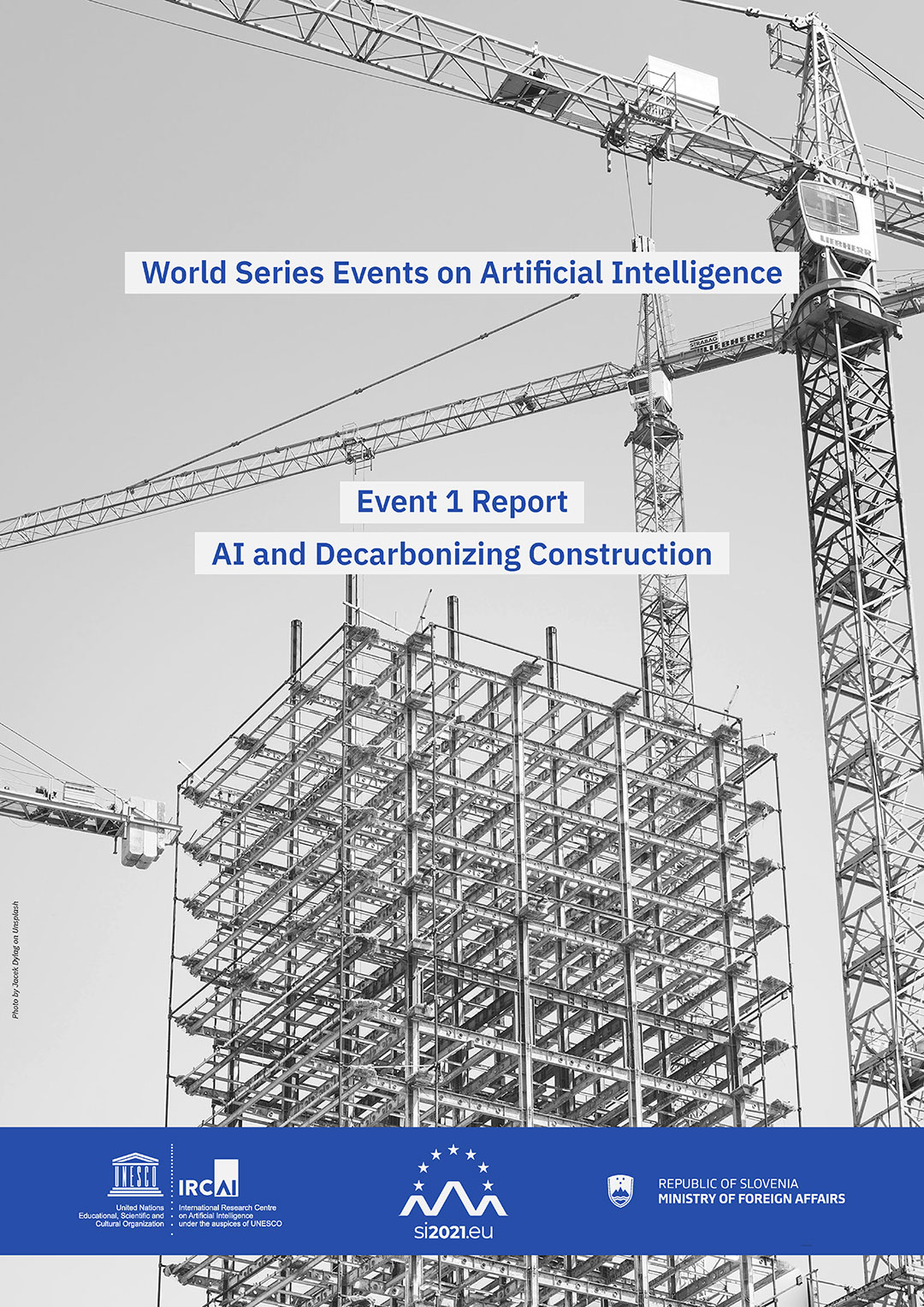 IRCAI World Series Events on AI Report - AI and Decarbonizing Construction Cover